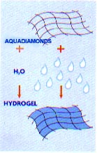 Aquadiamonds Mixed With Water Becomes Hydrogel